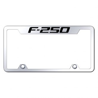 Autogold® - Truck Chrome License Plate Frame with Laser Etched F-250 Logo