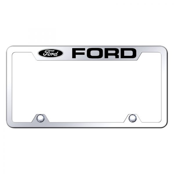 Autogold® - Truck License Plate Frame with Laser Etched Ford Logo