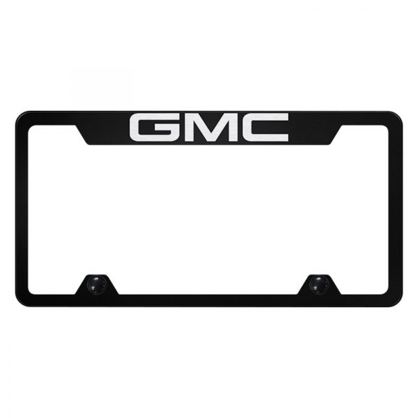 Autogold® - Truck License Plate Frame with Laser Etched GMC Logo