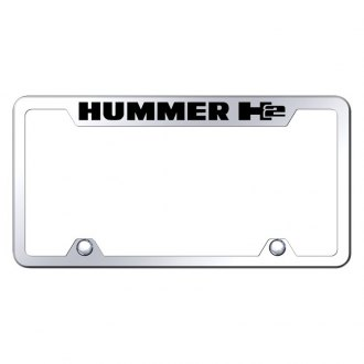 Autogold® - Truck Chrome License Plate Frame with Laser Etched Hummer H2 Logo
