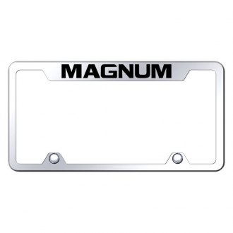 Autogold® - Truck Chrome License Plate Frame with Laser Etched Magnum Logo