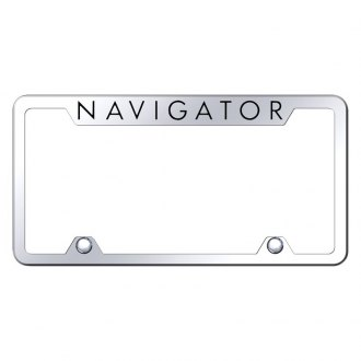 Autogold® - Truck License Plate Frame with Laser Etched Navigator Logo