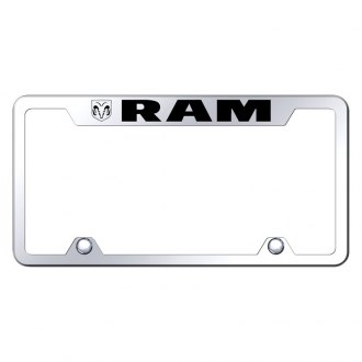 Autogold® - Truck License Plate Frame with Laser Etched RAM Logo