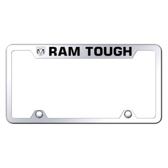Autogold® - Truck Chrome License Plate Frame with Laser Etched Ram Tough Logo