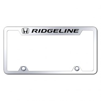 Autogold® - Truck License Plate Frame with Laser Etched Ridgeline Logo
