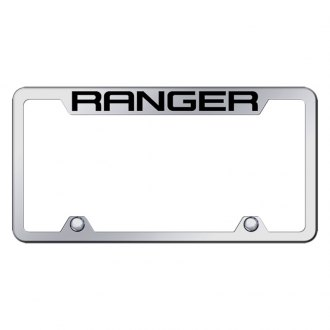 Autogold® - Truck Chrome License Plate Frame with Laser Etched Ranger Logo