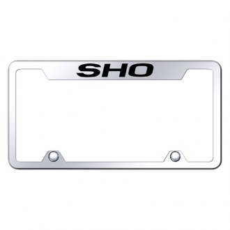 Autogold® - Truck Chrome License Plate Frame with Laser Etched SHO Logo