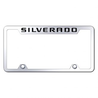 Autogold® - Truck License Plate Frame with Laser Etched Silverado Logo