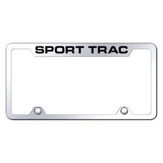 Autogold® - Truck Chrome License Plate Frame with Laser Etched Sport Trac Logo