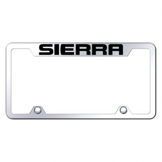 Autogold® - Truck License Plate Frame with Laser Etched Sierra Logo