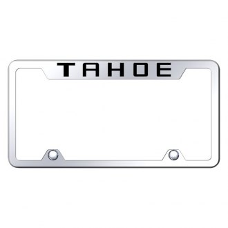 Autogold® - Truck License Plate Frame with Laser Etched Tahoe Logo