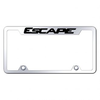 Autogold® - Truck Chrome License Plate Frame with Laser Etched Escape Logo