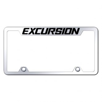 Autogold® - Truck Chrome License Plate Frame with Laser Etched Excursion Logo