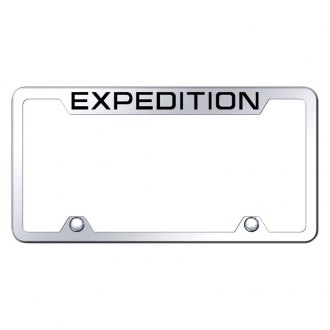 Autogold® - Truck License Plate Frame with Laser Etched Expedition Logo
