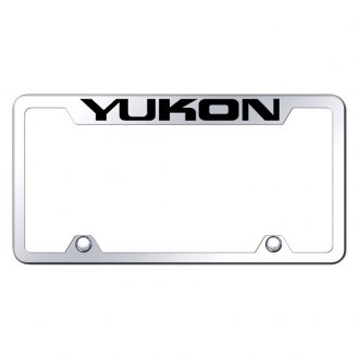 Autogold® - Truck License Plate Frame with Laser Etched Yukon Logo