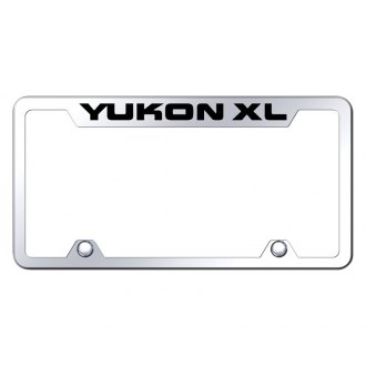 Autogold® - Truck License Plate Frame with Laser Etched Yukon XL Logo