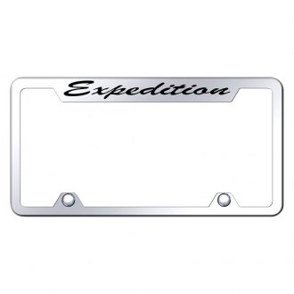 Autogold® - Truck License Plate Frame with Script Laser Etched Expedition Logo