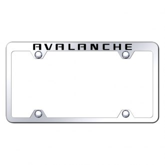 Autogold® - Wide Body Chrome License Plate Frame with Laser Etched Avalanche Truck Logo