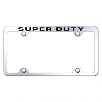 Autogold® - Wide Body Chrome License Plate Frame with Laser Etched Super Duty Logo