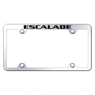 Autogold® - Wide Body Chrome License Plate Frame with Laser Etched Escalade Truck Logo