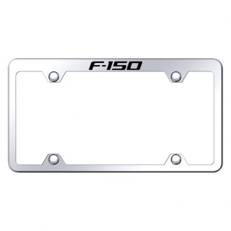 Autogold® - Wide Body Chrome License Plate Frame with Laser Etched F-150 Truck Logo