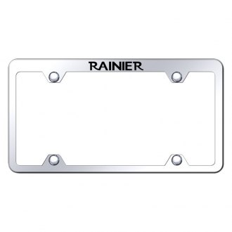 Autogold® - Wide Body Truck Chrome License Plate Frame with Laser Etched Rainier Logo