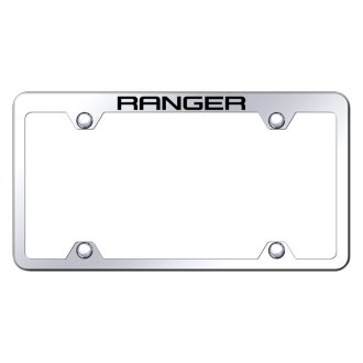 Autogold® - Wide Body Chrome License Plate Frame with Laser Etched Ranger Truck Logo