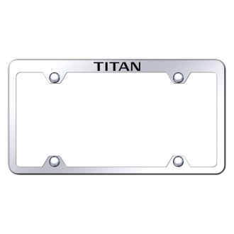Autogold® - Wide Body Chrome License Plate Frame with Laser Etched Titan Truck Logo