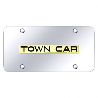 Autogold® - Chrome License Plate with 3D Town Car Logo