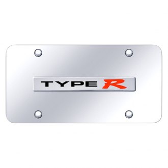 Autogold® - Chrome License Plate with Type R Logo