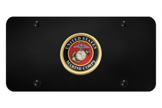 Autogold® - License Plate with 3D U.S. Marine Corps Badge Logo