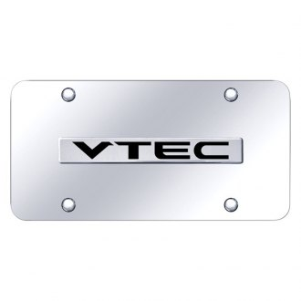 Autogold® - Chrome License Plate with VTEC Logo