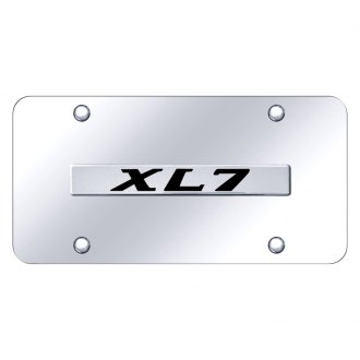 Autogold® - Chrome License Plate with 3D Chrome XL7 Logo
