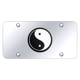 Autogold® - Chrome License Plate with 3D Chrome Yin-Yang Logo