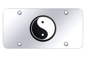 Autogold® - License Plate with 3D Yin-Yang Logo