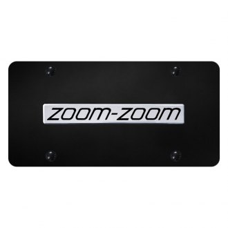 Autogold® - License Plate with Chrome Zoom-Zoom Logo