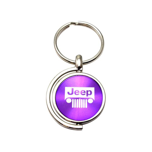 autogold kc1025 jeeg pur jeep grill purple spinner key chain