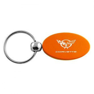Autogold® - Corvette C5 Orange Oval Key Chain