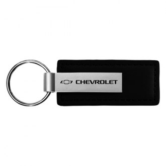 Autogold® - Chevrolet Black Leather Key Chain