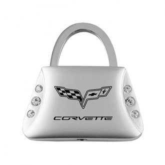 Autogold® - Corvette C6 Jeweled Purse Key Chain