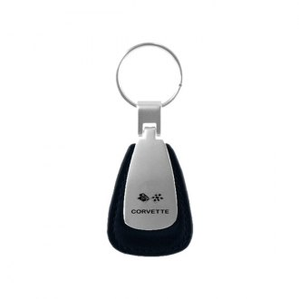 Autogold® - Corvette C3 Black Leather Teardrop Key Chain