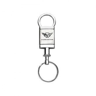 Autogold® - Corvette C5 Satin-Chrome Valet Key Chain