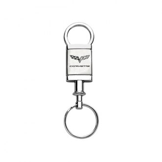 Autogold® - Corvette C6 Satin-Chrome Valet Key Chain