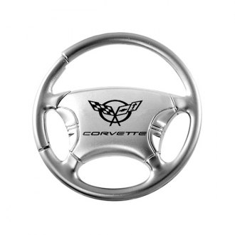 Autogold® - Corvette C5 Chrome Steering Wheel Key Chain