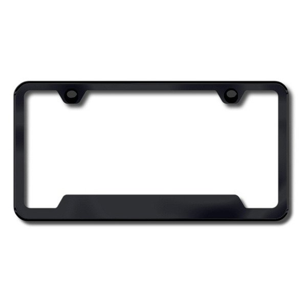 Autogold® - Plain 2-Hole Black Frame with Cut-Outs