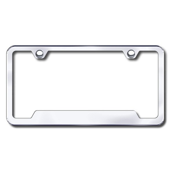 Autogold® - Plain 2-Hole Chrome Frame with Cut-Outs
