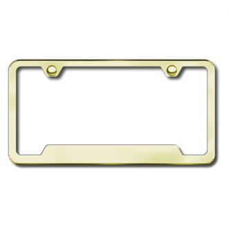Autogold® - Plain Gold License Frame with Cut-Outs