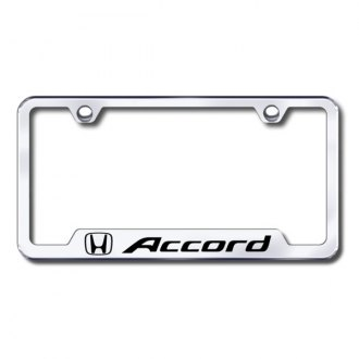 Autogold® - Accord Laser Etched Logo on Chrome Frame with Cut-Outs