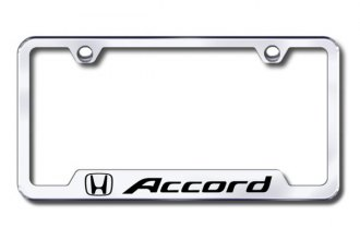 Autogold® - Accord Logo on Chrome Frame with Cut-Outs