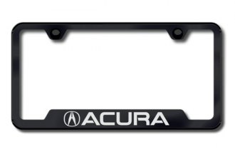 Autogold® - Acura Logo on Black Frame with Cut-Outs